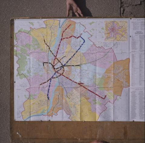 Budapesti közlekedéshálózati térkép