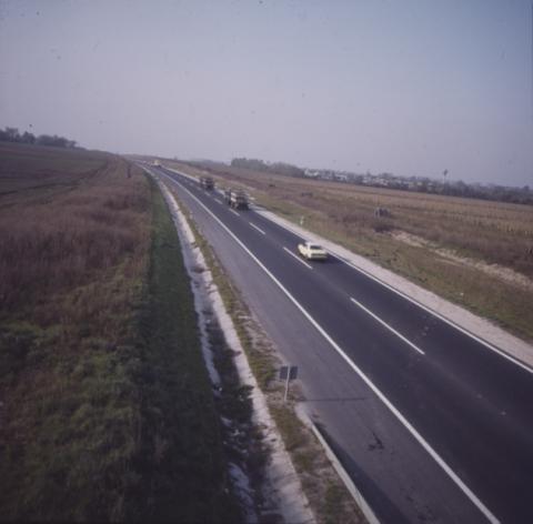 Autópálya látképe
