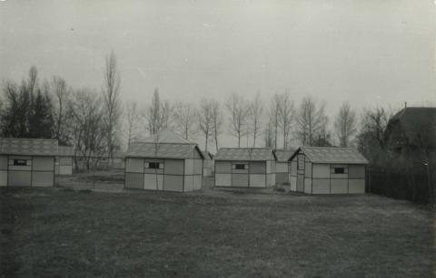 A csopaki MEDOSZ Üdülő könnyűszerkezetes épületei