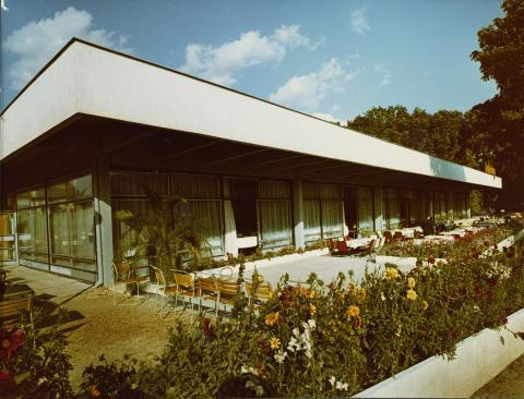 A badacsonyi Hableány Étterem terasza