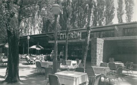 A siófoki Motel Étterem terasza