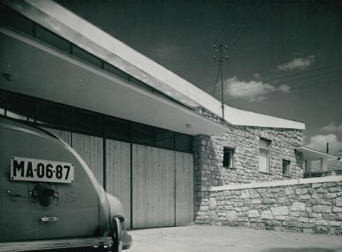 A füredi mentőállomás épülete az 1960-as években