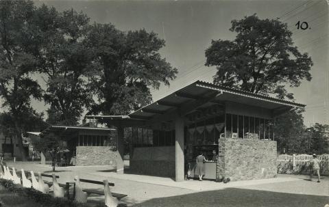 A fonyódi bazársor az 1960-as években