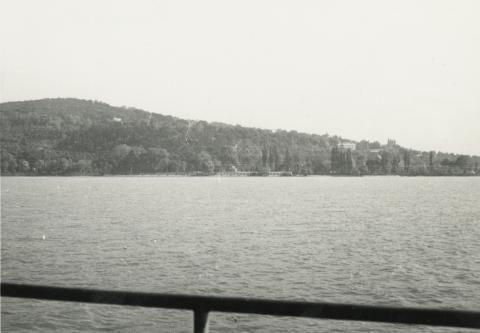 Fonyód látképe a Balatonról