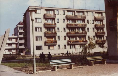 Szeged, Partiscum (később Budapesti) körúti lakótelep, 5 szintes épületek