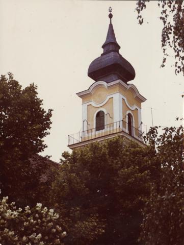 Polgármesteri hivatal (egykori Tanácsház) épületének tornya Nagykőrösön