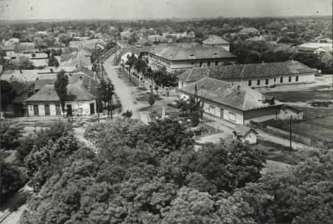 Kilátás a Szelei utca felé Abonyban