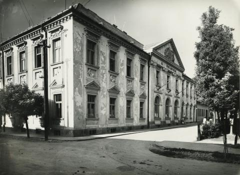 Gyöngyös, egykori Rákosi tér és Marx utca sarok