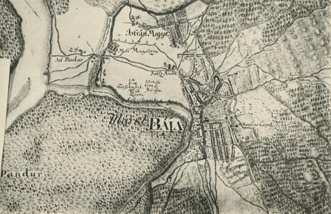 Baja környéke egy 1782-es térképen