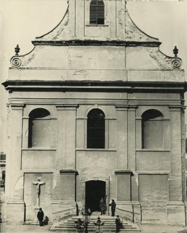 A bajai belvárosi templom az átalakítás előtt 1925-ben