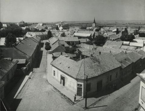 Balassagyarmat látképe az evangélikus templom tornyából