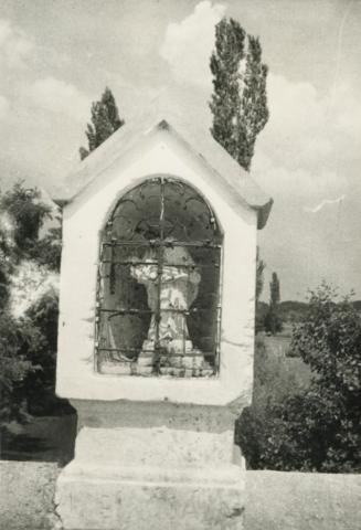 Nepomuki Szt. János szobra a hegyesdi hídon