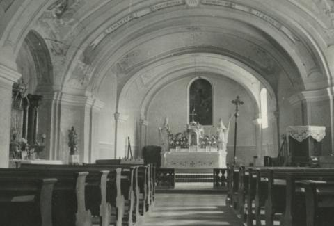 A káptalantóti római katolikus templom belseje