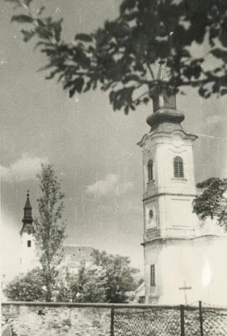 A köveskáli római katolikus és református templom