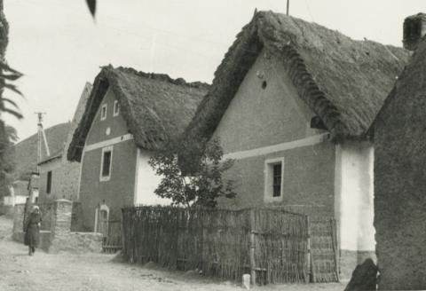 Utcarészlet Balatonhenyén a falu északi részén