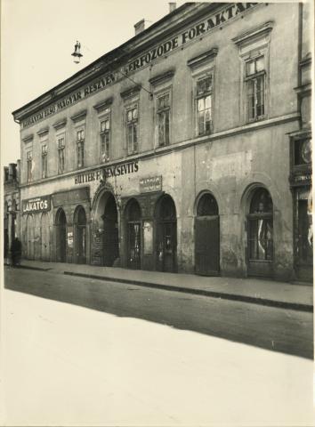 A szegedi Apponyi Albert (ma Oskola) utca 18., Hutter-Ferencsevits sör- és bornagykereskedés