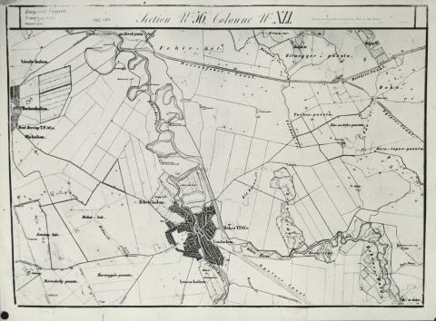 Békés környéke a II. katonai térképen (1863-64)