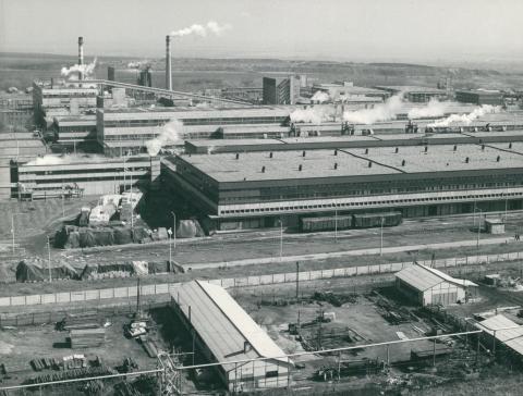 A Dunaújvárosi Papírgyár területe