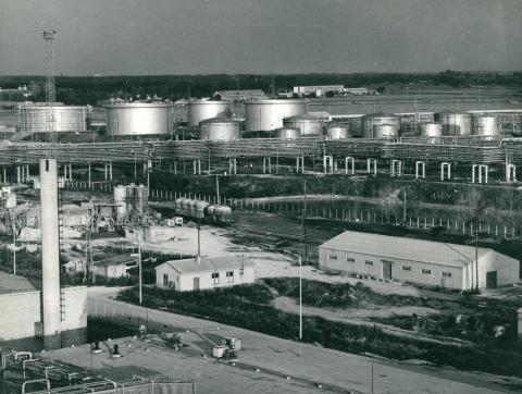 A Tiszapalkonyai Erőmű látképe